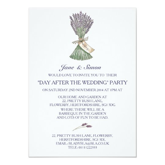 Lavender Country Garden Wedding/Party Invitation
