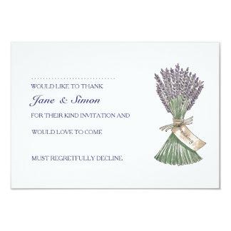Lavender Country Garden Wedding RSVP card 9 Cm X 13 Cm Invitation Card