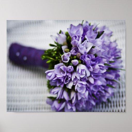 Lavender Crocus Bridal Bouquet Print