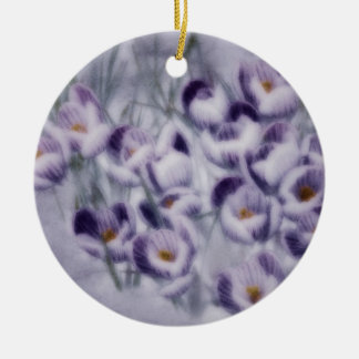 Lavender Crocus Patch Christmas Ornament