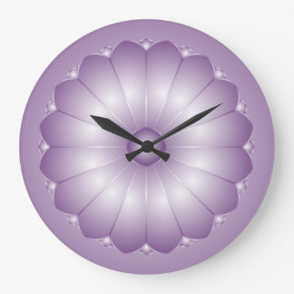 Lavender Cushion Flower Wall Clock