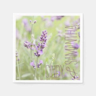 Lavender Custom Disposable Napkins