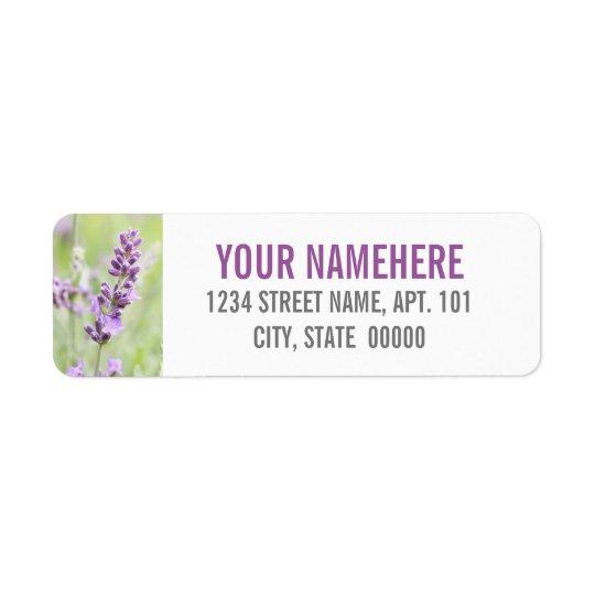 Lavender Custom Return Address Label