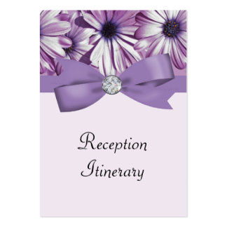 Lavender Daisies Bow & Ribbon Wedding Business Card Templates
