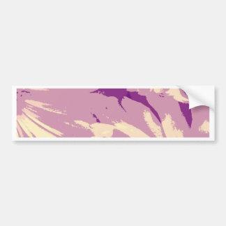 lavender daisy bumper sticker