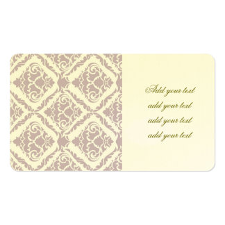 lavender ,damask, pattern,trendy,girly,cute,chic,m pack of standard business cards