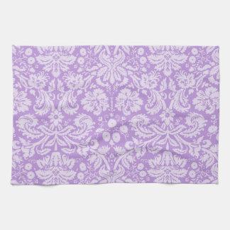 Lavender Damask Tea Towel