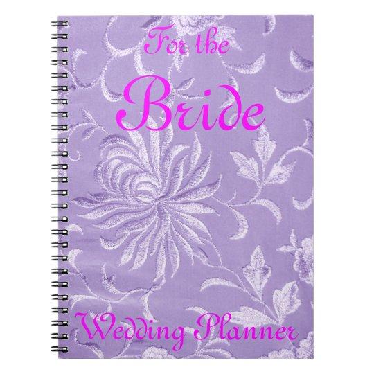 Lavender Damask Wedding Planner Notebooks