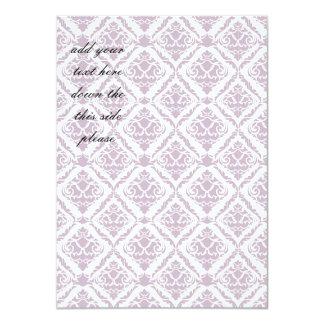 lavender,damasks,pattern,vintage,victorian,shabby 11 cm x 16 cm invitation card