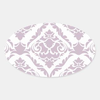 lavender,damasks,pattern,vintage,victorian,shabby oval sticker
