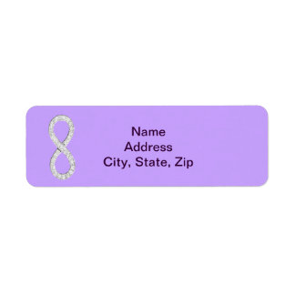 Lavender Diamond Infinity Wedding Address Labels