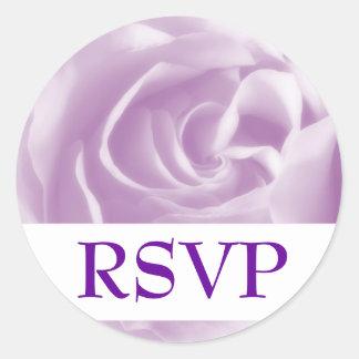 Lavender Dream Rose, RSVP Round Sticker