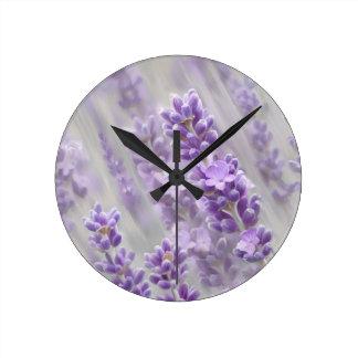 Lavender dreams. round clock