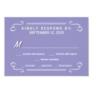 Lavender Eat Drink & RSVP Rustic Wedding Reply Card