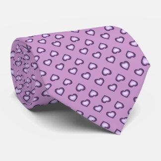 Lavender Fade Hearts Pattern Tie