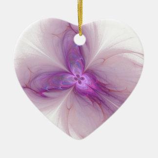 Lavender Fairy Ceramic Heart Decoration