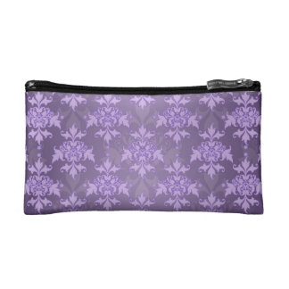 Lavender Fancy Damask Cosmetic Bag