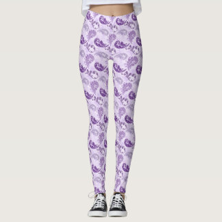 Lavender, Feather, Purple, Feathers, Elegant, Leggings