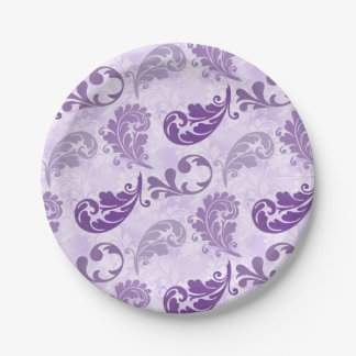 Lavender, Feather, Purple, Feathers, Elegant Paper Plate