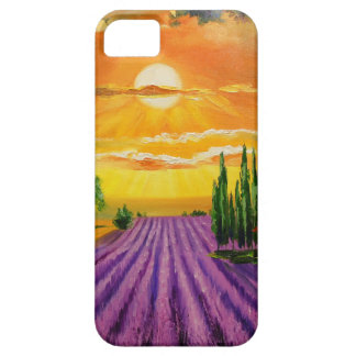 Lavender field at sunset iPhone 5 cover