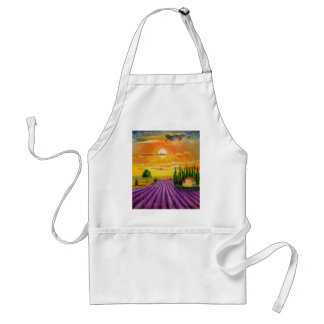 Lavender field at sunset standard apron