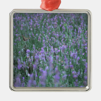 Lavender Field Christmas Ornament