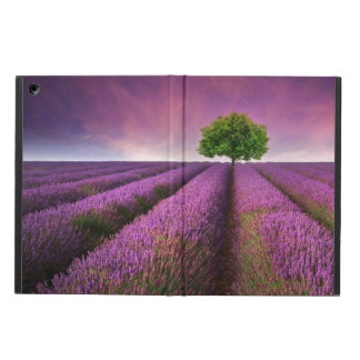 Lavender Field Landscape Summer Sunset Cover For iPad Air