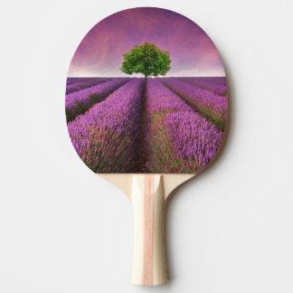 Lavender Field Landscape Summer Sunset Ping Pong Paddle