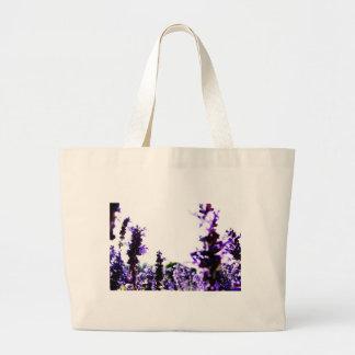 Lavender Field Large Tote Bag