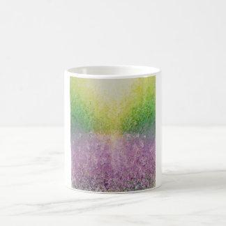Lavender field basic white mug