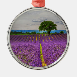Lavender Field scenic, France Christmas Ornament