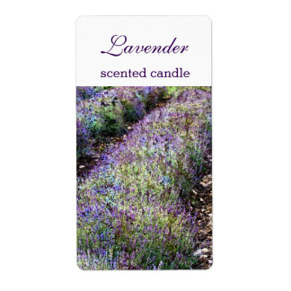 lavender field scented candlecustomized label shipping label