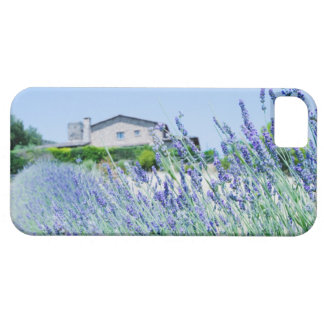 Lavender field with a building in the case for the iPhone 5