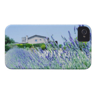 Lavender field with a building in the iPhone 4 Case-Mate case