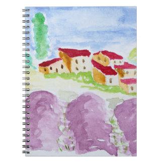 Lavender Fields Abbaye de Senanque   Provence Notebooks