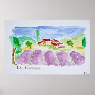 Lavender Fields Abbaye de Senanque | Provence Poster