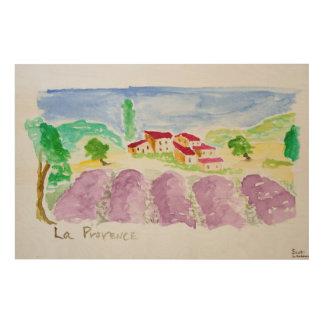 Lavender Fields Abbaye de Senanque | Provence Wood Print