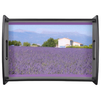 Lavender Fields in Valensole, France Serving Tray