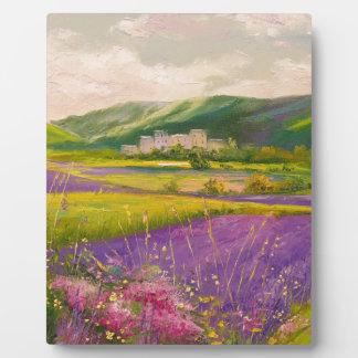 Lavender fields landscape plaque