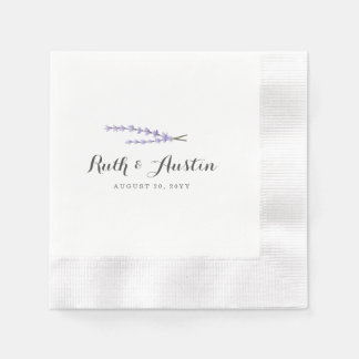 Lavender Fields Wedding Disposable Napkin