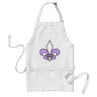 Lavender fleur de lis standard apron
