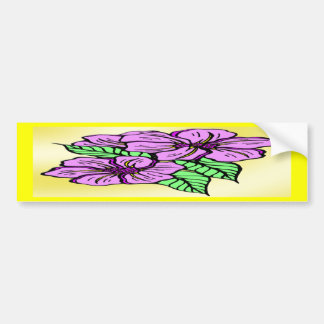 Lavender Floral Bumper Sticker