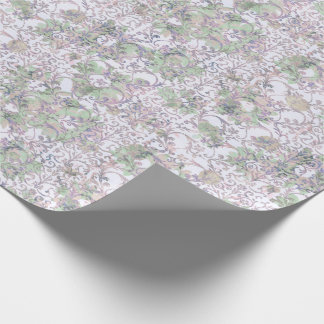 Lavender Floral Damask Wrapping Paper