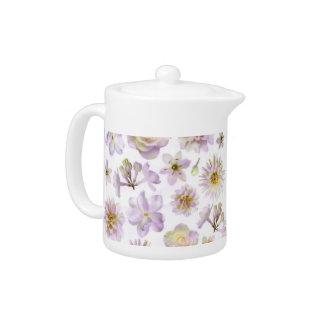 Lavender Floral Deco Tea Pot