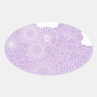 Lavender Floral Design Modern Abstract Flowers Sticker