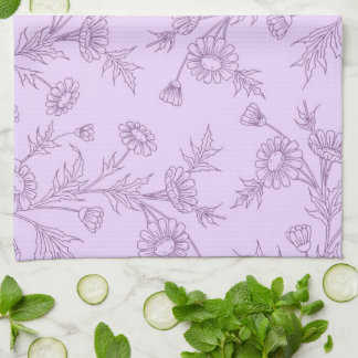Lavender Floral Kitchen Cloth Towel