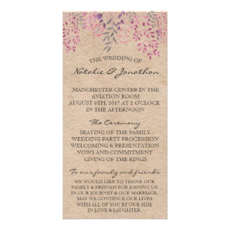 Lavender Floral Program Card