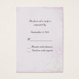 Lavender Floral RSVP Card