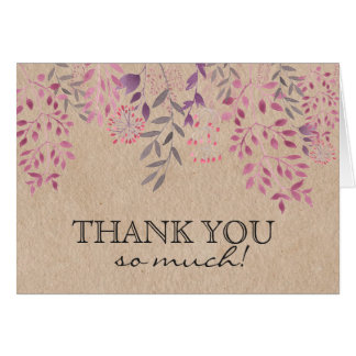 Lavender Floral Thank You Card