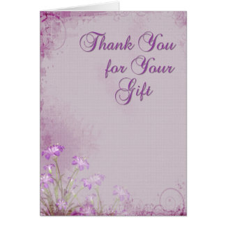Lavender Floral Thank You Greeting Card